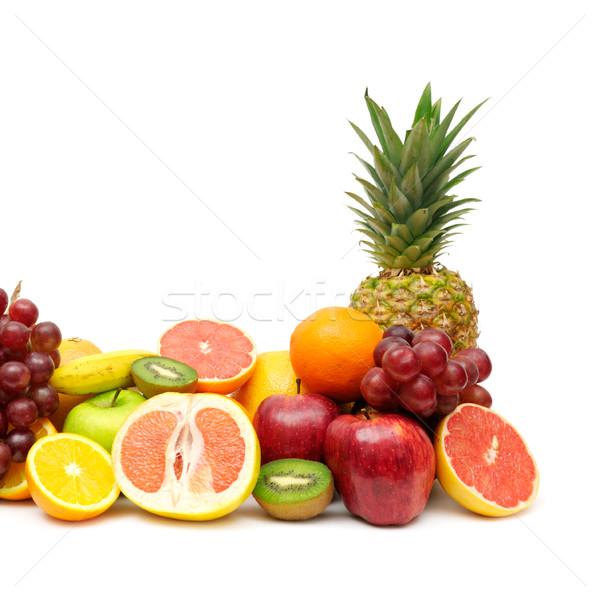 Vers vruchten geïsoleerd witte appel groene Stockfoto © Serg64