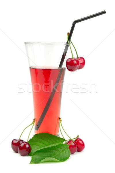 Cherry juice isolated on white background. Stock photo © Serg64