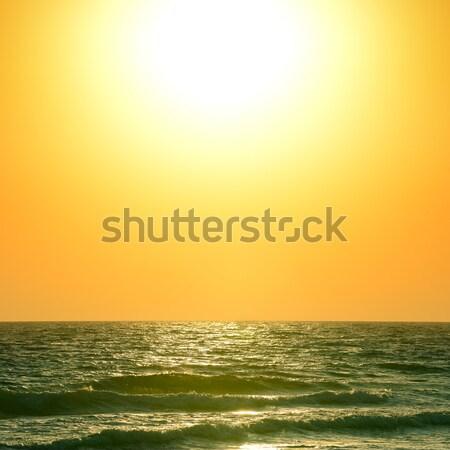 Zonsopgang oceaan mooie hemel water wolken Stockfoto © serg64