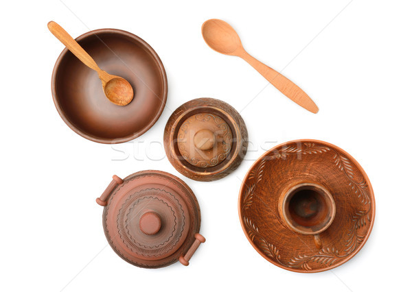 Pottery (pot, plate, cup) Stock photo © serg64