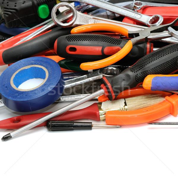 Conjunto ferramentas isolado branco construção trabalhar Foto stock © serg64
