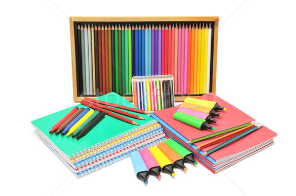 notebooks and pencils Stock photo © Serg64