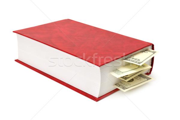 Dólares libro aislado blanco negocios dinero Foto stock © Serg64