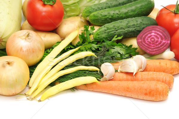 Legumes frutas isolado branco verde mercado Foto stock © Serg64