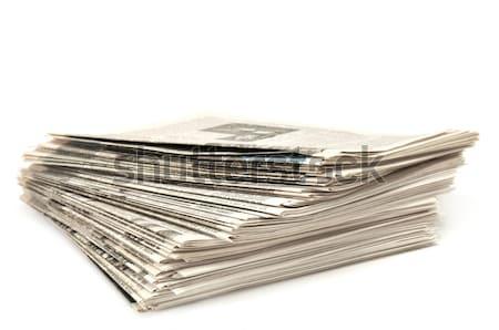新聞 新聞 孤立した 白 ビジネス オフィス ストックフォト © Serg64