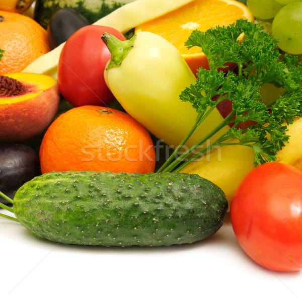 新鮮果物 野菜 フルーツ 背景 夏 オレンジ ストックフォト © Serg64