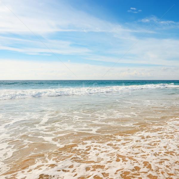 Oceano ondas blue sky praia sol paisagem Foto stock © serg64