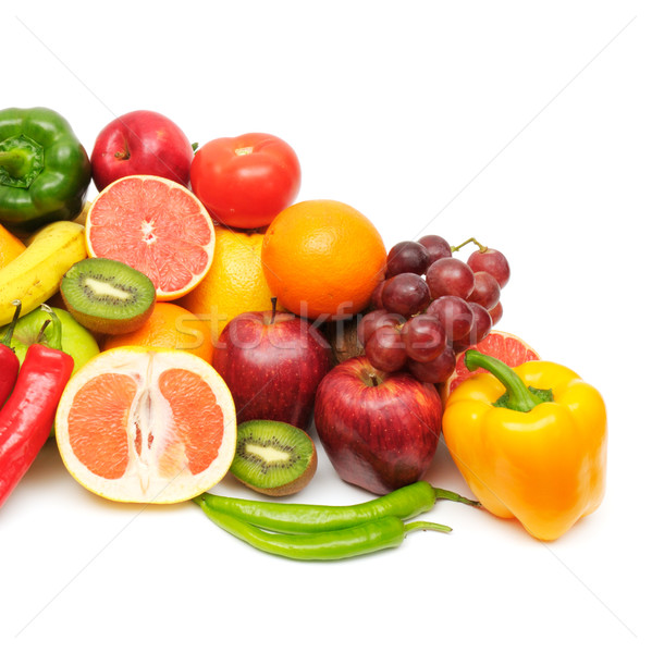 fresh fruits and vegetables isolated Stock photo © Serg64