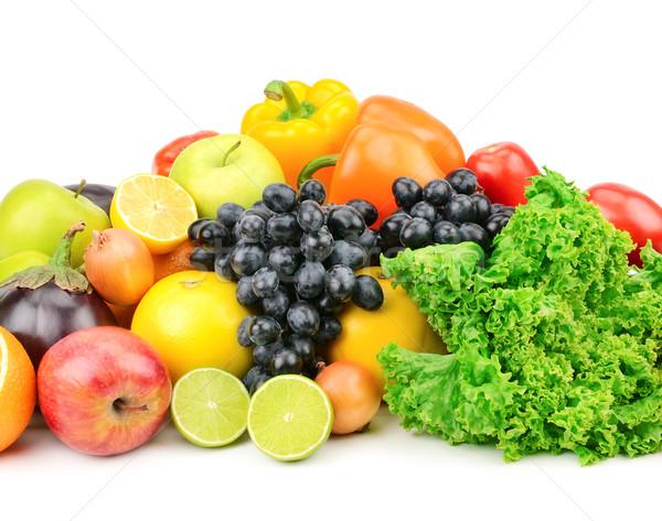 Conjunto fruto legumes isolado branco folha Foto stock © Serg64