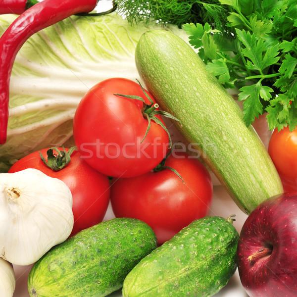 Frutas hortalizas aislado blanco frutas verde Foto stock © Serg64