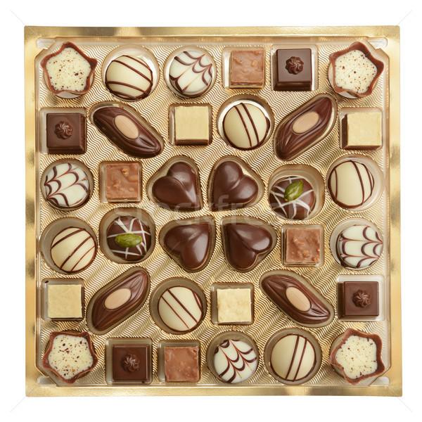 Variedade caixa comida café chocolate doce Foto stock © serg64