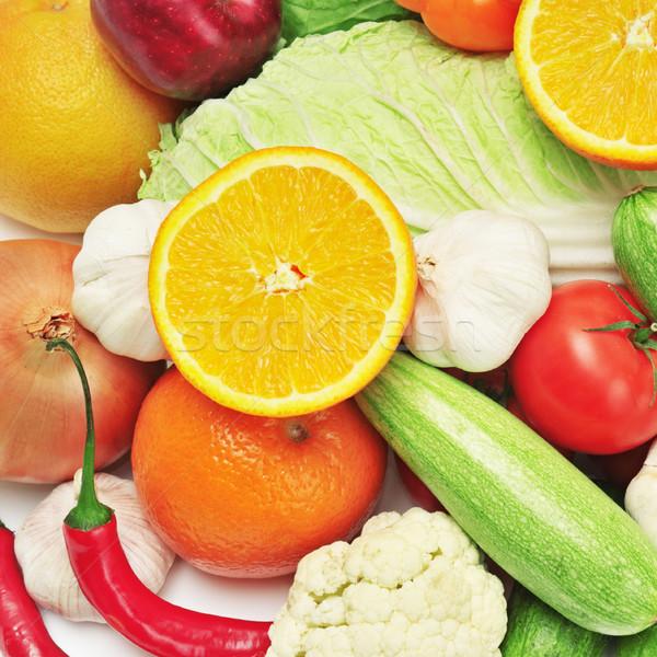 Vruchten groenten vruchten tuin oranje groene Stockfoto © Serg64