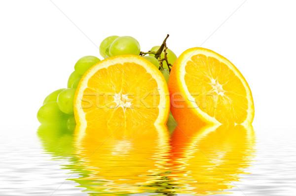 Oranje druif water zomer Blauw groep Stockfoto © serg64