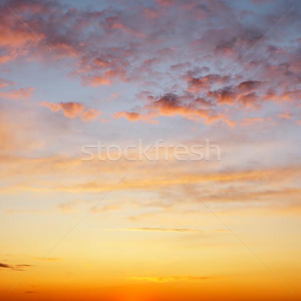 Pôr do sol belo céu nuvens paisagem verão Foto stock © Serg64