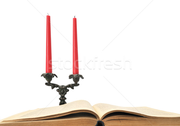 book and candles Stock photo © Serg64