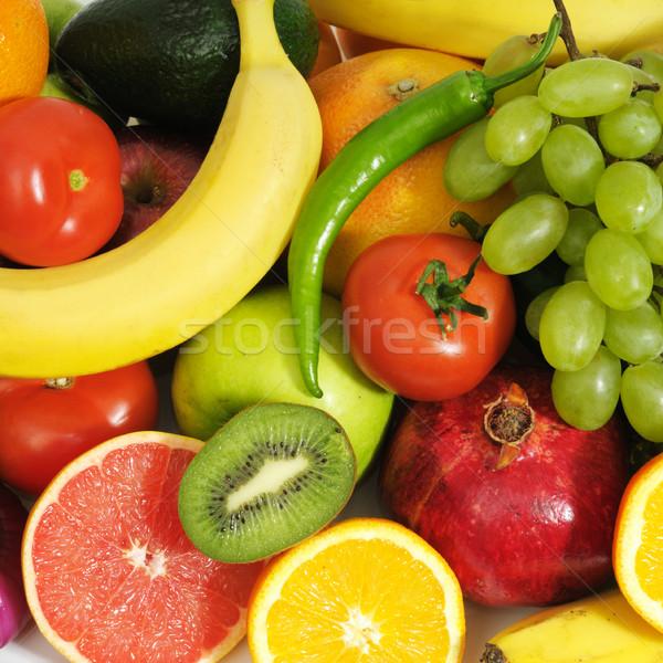 Fresco frutas natureza fundo laranja verde Foto stock © Serg64