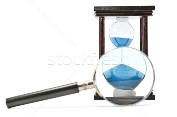 hourglass and magnifying glass Stock photo © serg64