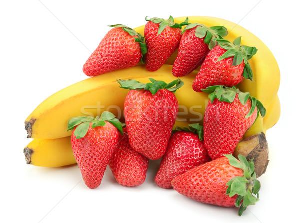 Banana morango isolado branco verão vermelho Foto stock © serg64