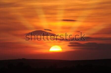 Gyönyörű naplemente égbolt felhők tájkép nyár Stock fotó © Serg64