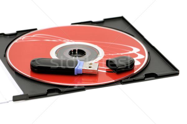Flaş bellek bilgisayar disk yalıtılmış beyaz Stok fotoğraf © Serg64