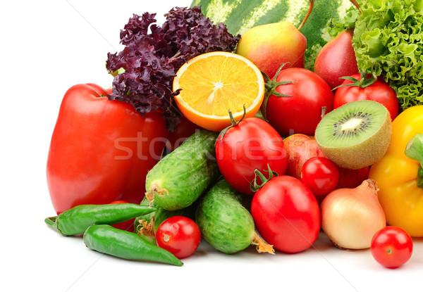 Vruchten groenten geïsoleerd witte vruchten achtergrond Stockfoto © serg64