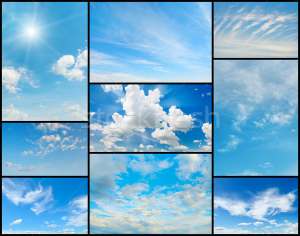 Beautiful collection of clouds in the blue sky. Stock photo © serg64