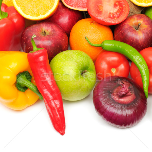 fresh fruits and vegetables Stock photo © Serg64