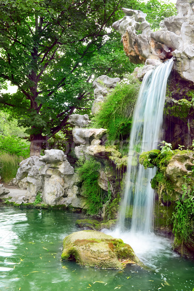 Large waterfall in the park Stock photo © Serg64