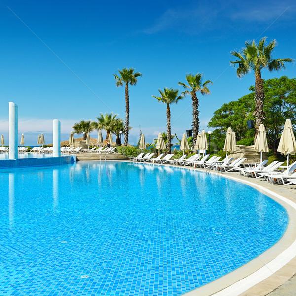 Outdoor swimming pool on the beach Stock photo © serg64