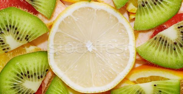 Vruchten citroen oranje grapefruit kiwi gezondheid Stockfoto © serg64