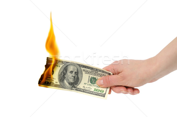 burning dollar Stock photo © Serg64
