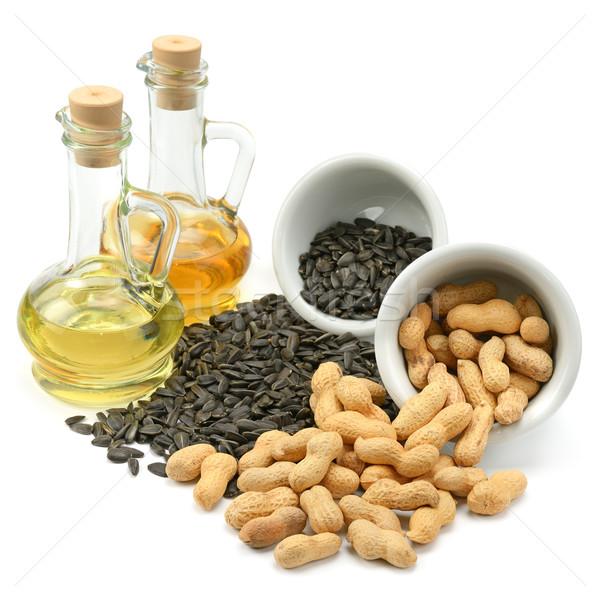ヒマワリ 種子 ピーナッツ 油 孤立した 白 ストックフォト © Serg64