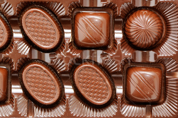 Voedsel menigte verjaardag chocolade achtergrond vak Stockfoto © Serg64