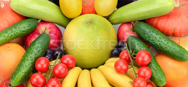 Fresco frutas legumes laranja grupo vermelho Foto stock © serg64