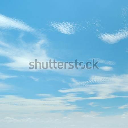 Beyaz kabarık bulutlar mavi gökyüzü bahar ışık Stok fotoğraf © serg64