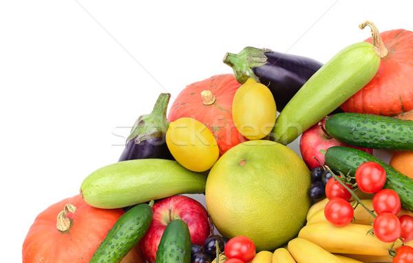 Taze meyve sebze yalıtılmış beyaz turuncu Stok fotoğraf © serg64