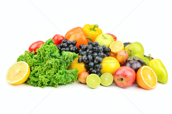 set fruit and vegetables isolated on white  Stock photo © Serg64