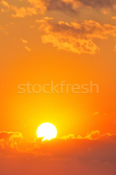 Belo pôr do sol céu nuvens paisagem beleza Foto stock © Serg64