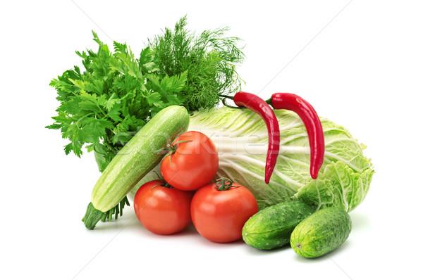 Sebze yalıtılmış beyaz grup pazar renk Stok fotoğraf © Serg64