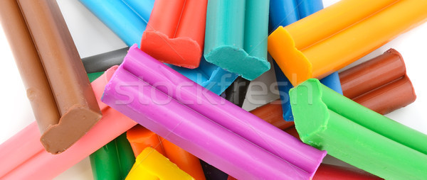 Colorful modelling clay background Stock photo © serg64