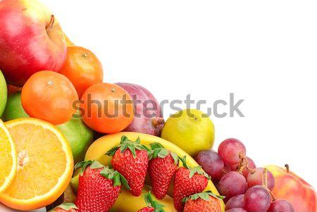 Vers vruchten geïsoleerd witte achtergrond oranje Stockfoto © serg64