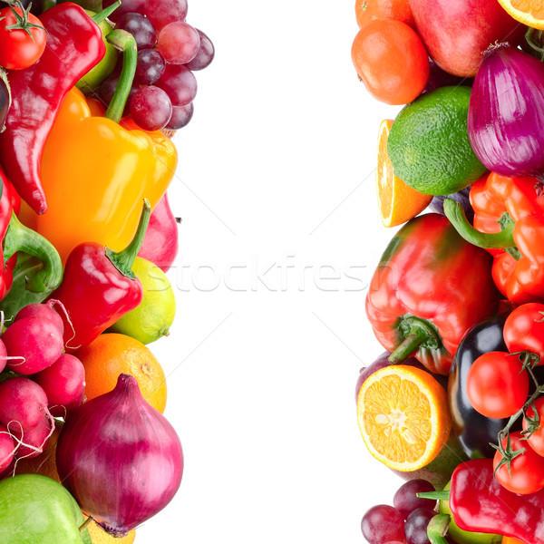 Meyve sebze yalıtılmış beyaz gıda yeşil Stok fotoğraf © serg64