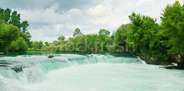 Güzel çağlayan orman su bahar ahşap Stok fotoğraf © serg64