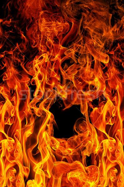 Brand zwarte abstract licht achtergrond oranje Stockfoto © serg64