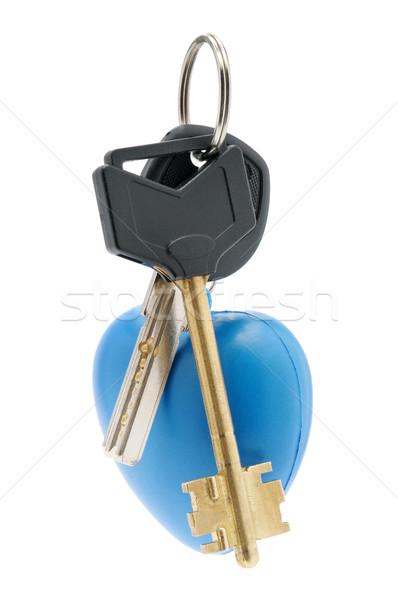 Kulcs csecsebecse izolált fehér terv háttér Stock fotó © Serg64