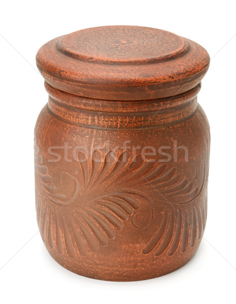 Clay pot with cover Stock photo © serg64