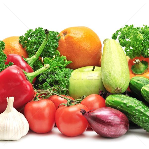 Gyümölcsök zöldségek izolált fehér alma gyümölcs Stock fotó © Serg64
