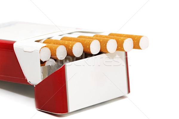 Cigaretta izolált fehér háttér űr dohányzás Stock fotó © Serg64