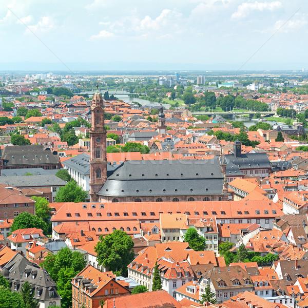 şehir Almanya Bina ışık yaz mavi Stok fotoğraf © serg64