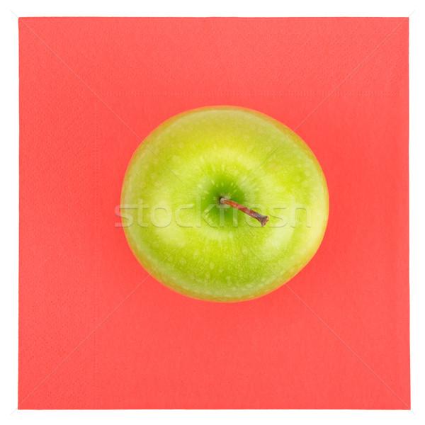Verde manzana rojo servilleta aislado blanco Foto stock © serg64
